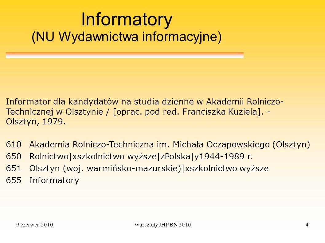 Informatory (NU Wydawnictwa informacyjne)