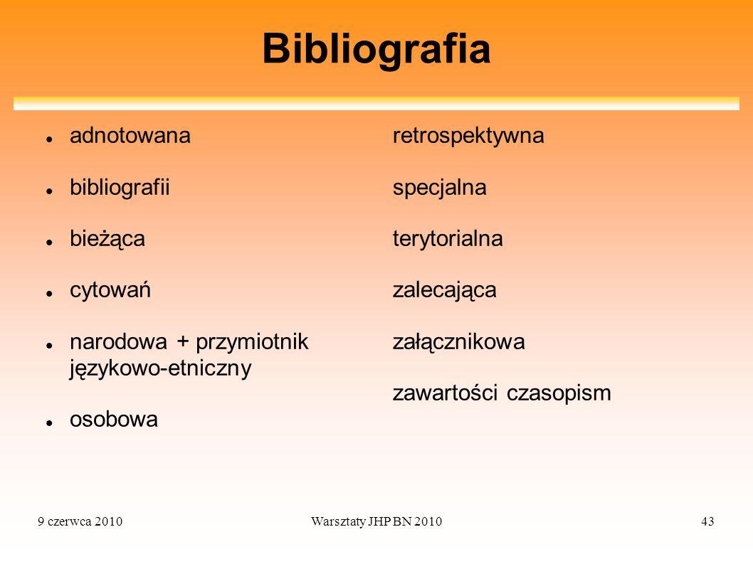 Bibliografia adnotowana bibliografii bieżąca cytowań