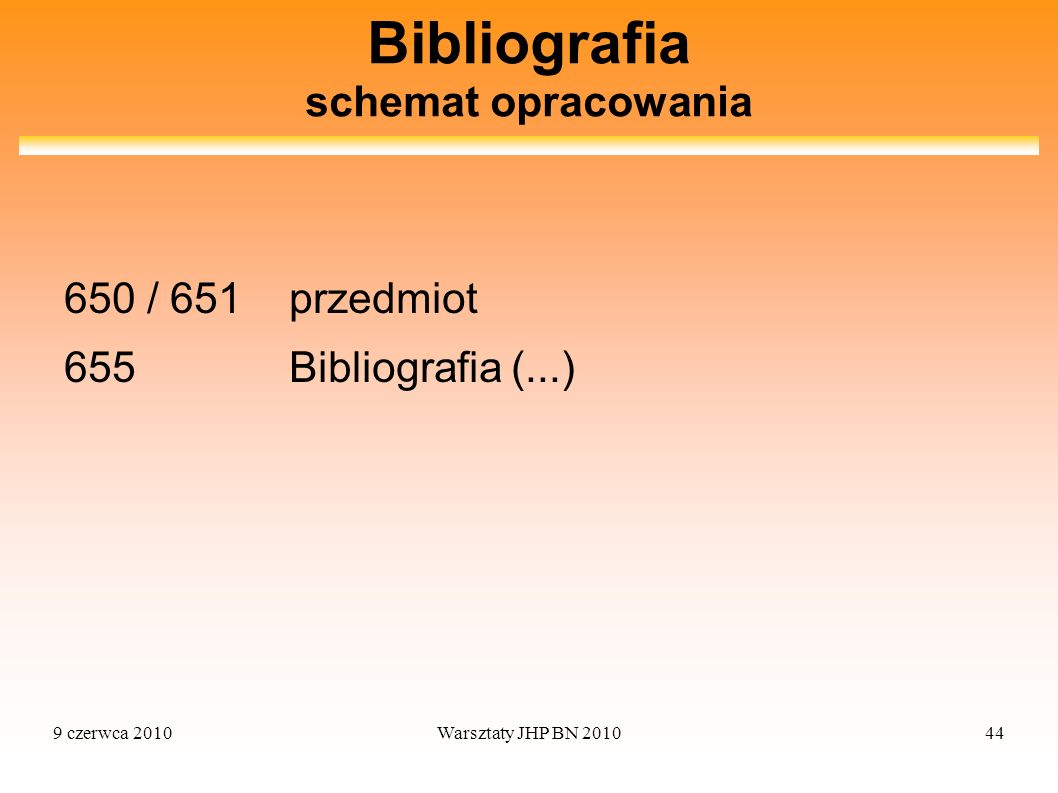 Bibliografia schemat opracowania