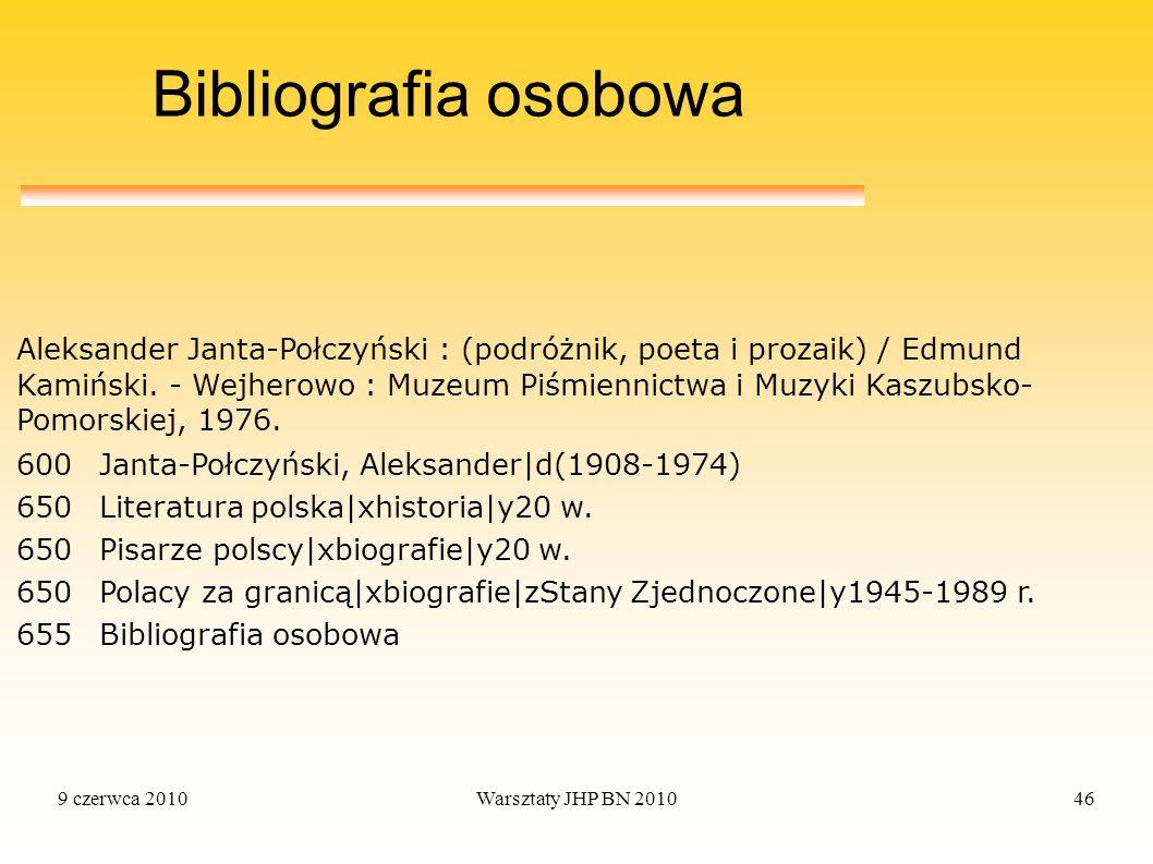 Bibliografia osobowa