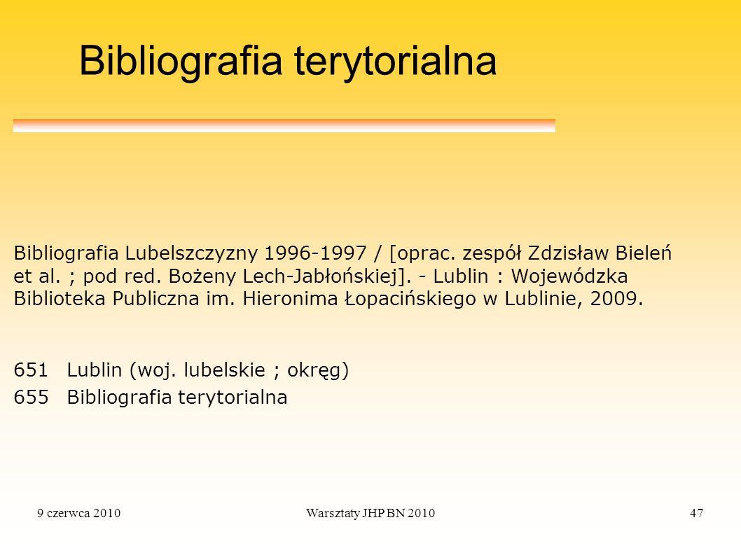 Bibliografia terytorialna