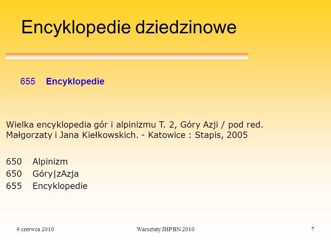 Encyklopedie dziedzinowe
