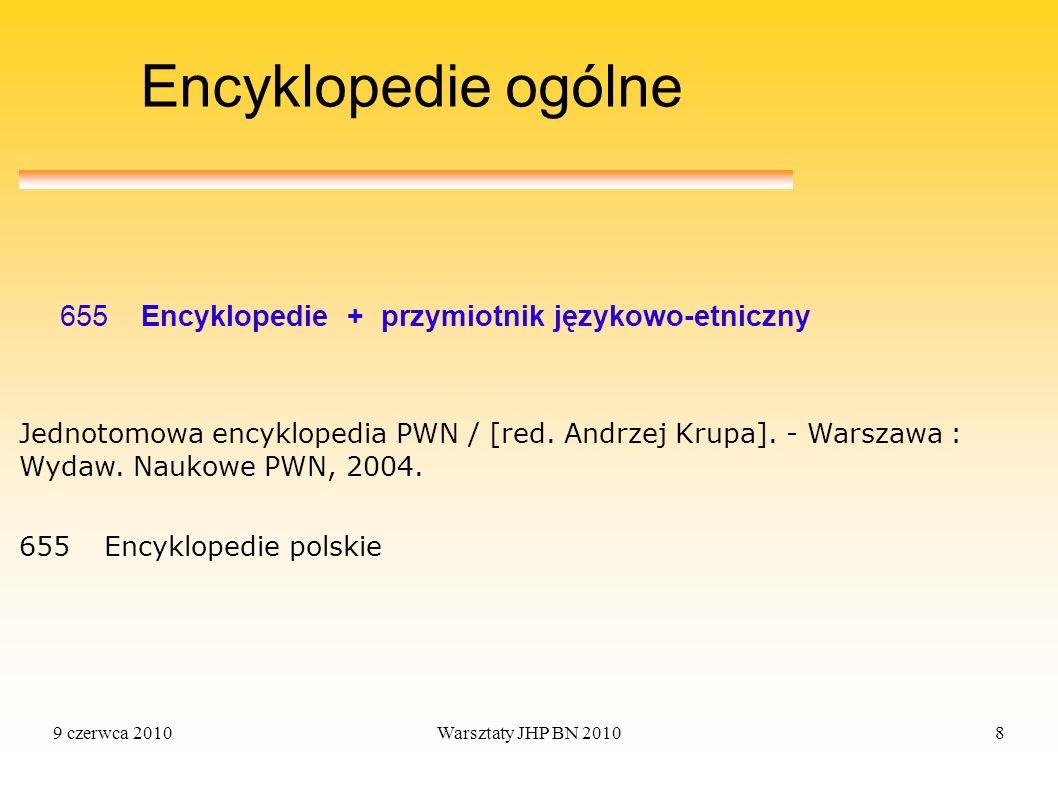 Encyklopedie ogólne 655 Encyklopedie + przymiotnik językowo-etniczny