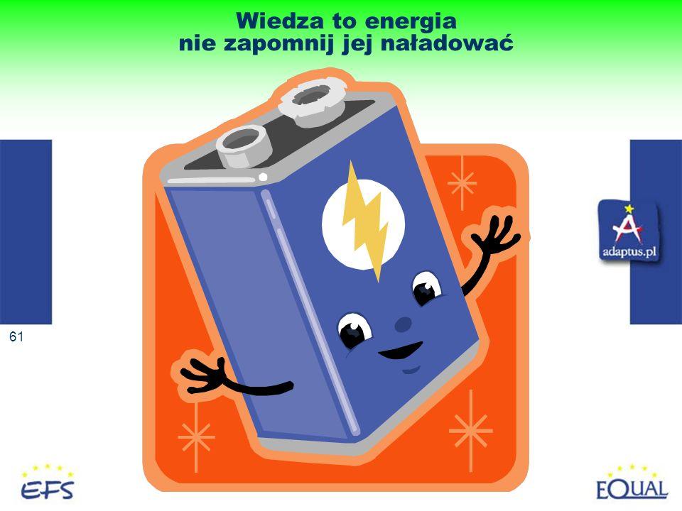 Wiedza to energia nie zapomnij jej naładować