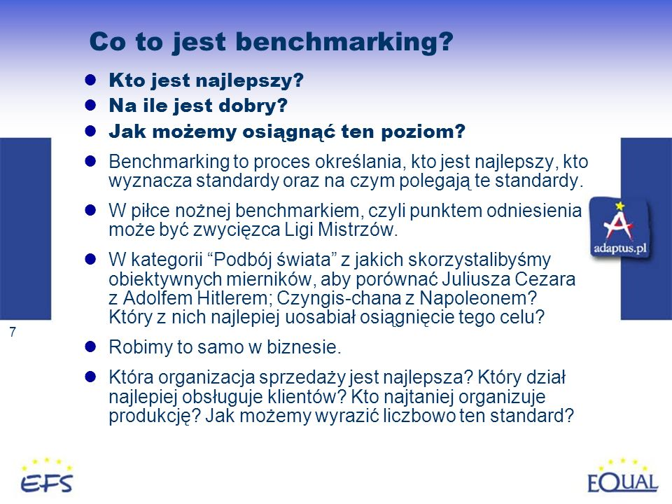 Co to jest benchmarking