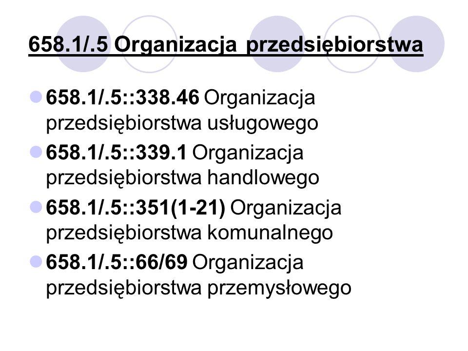 658.1/.5 Organizacja przedsiębiorstwa