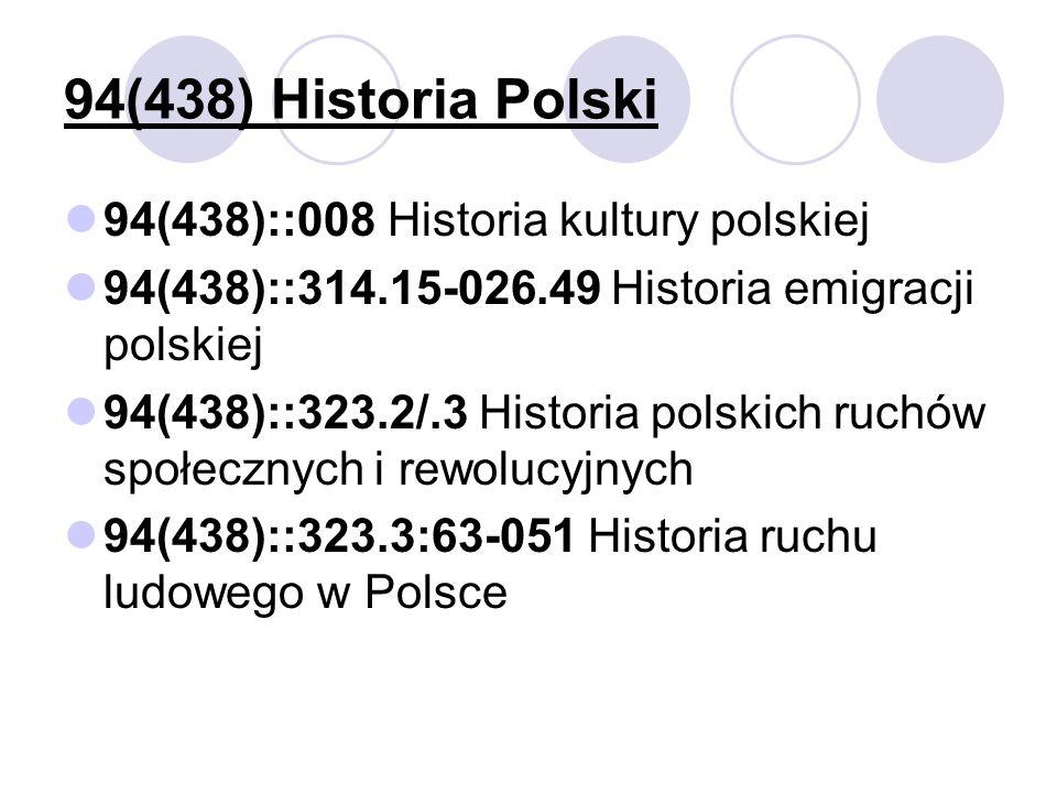 94(438) Historia Polski 94(438)::008 Historia kultury polskiej