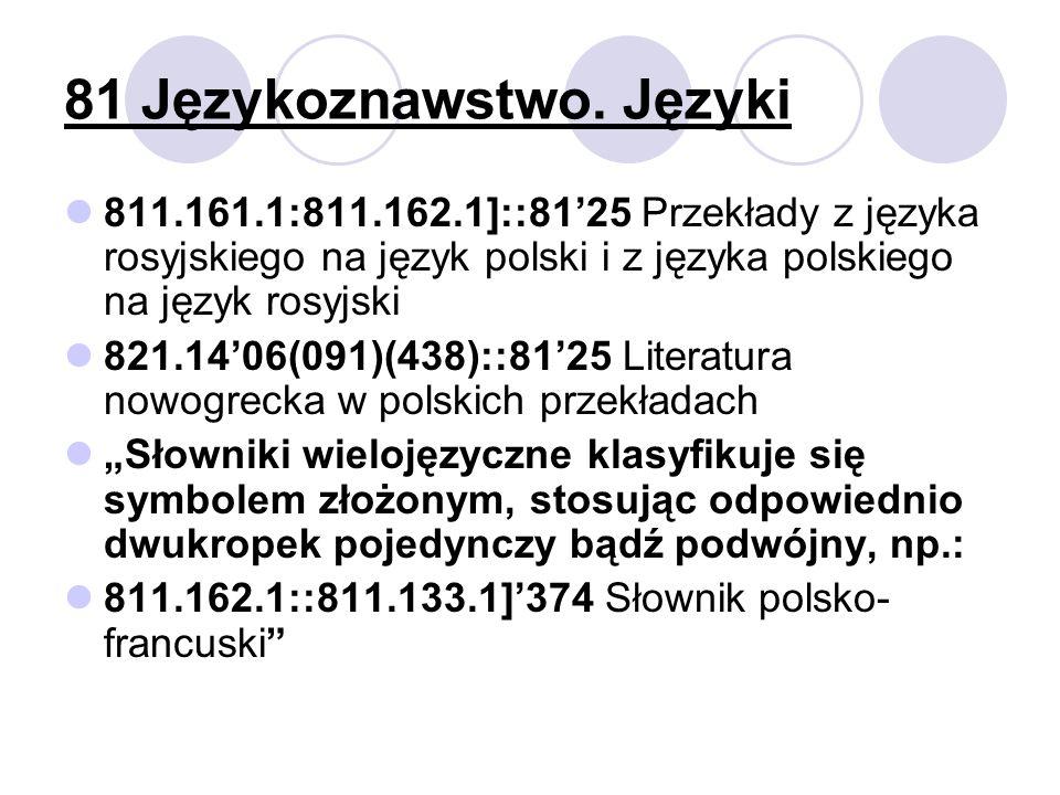 81 Językoznawstwo. Języki