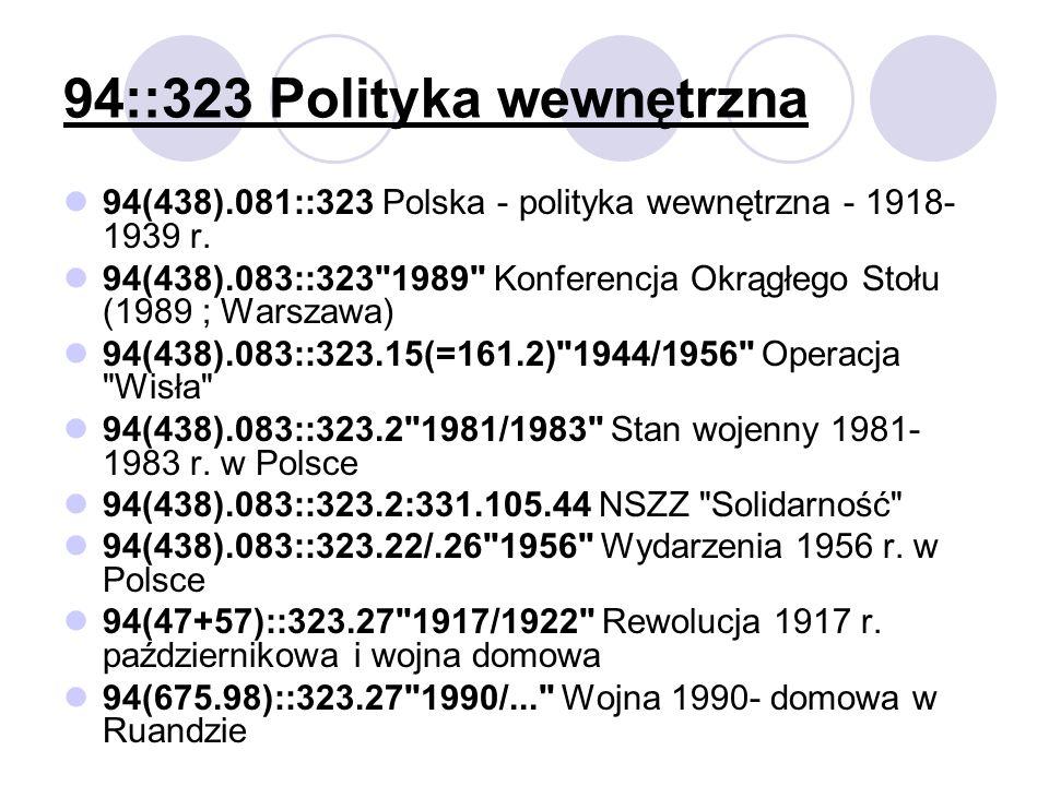 94::323 Polityka wewnętrzna
