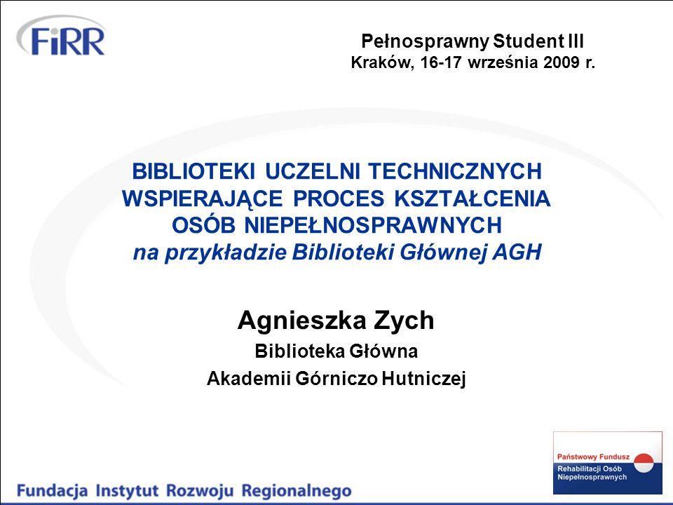 Agnieszka Zych Biblioteka Główna Akademii Górniczo Hutniczej