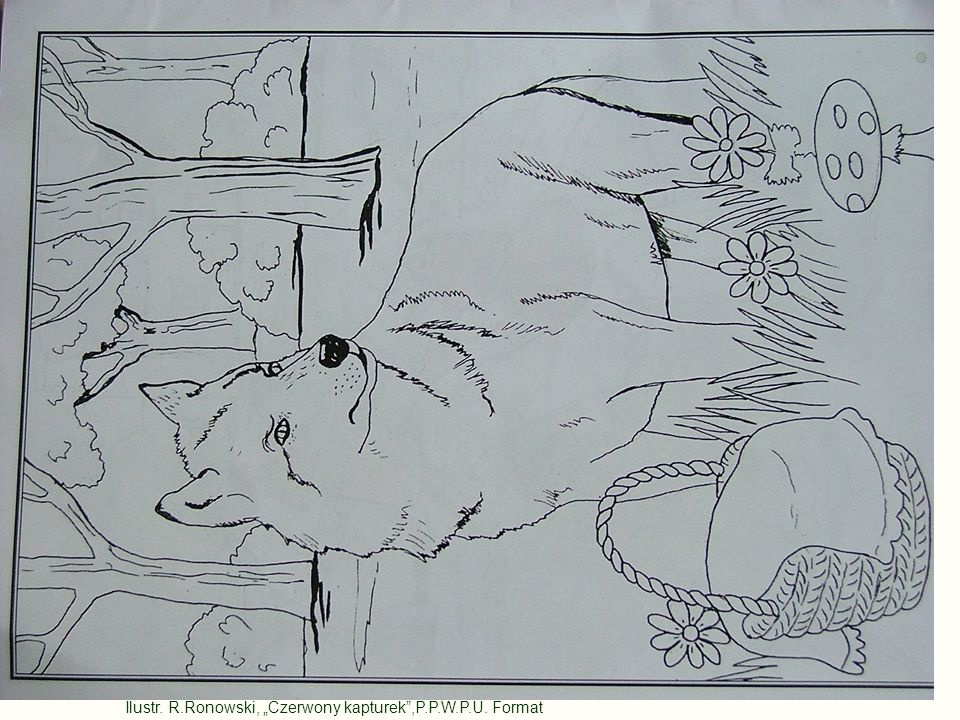 "Ilustr. R.Ronowski, ""Czerwony kapturek ,P.P.W.P.U. Format"