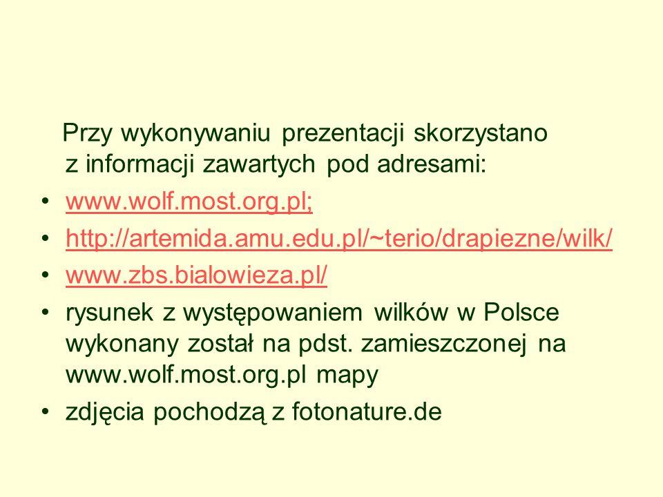 Przy wykonywaniu prezentacji skorzystano z informacji zawartych pod adresami: