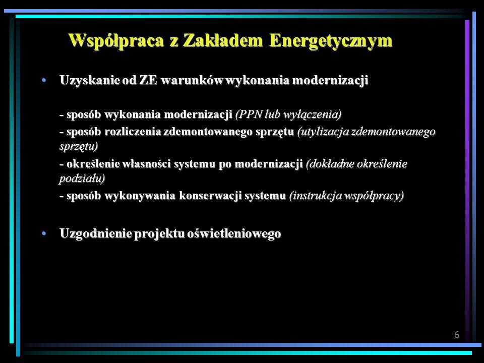 Współpraca z Zakładem Energetycznym