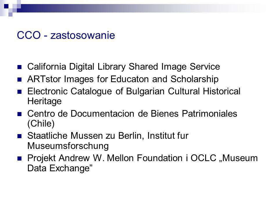 CCO - zastosowanie California Digital Library Shared Image Service