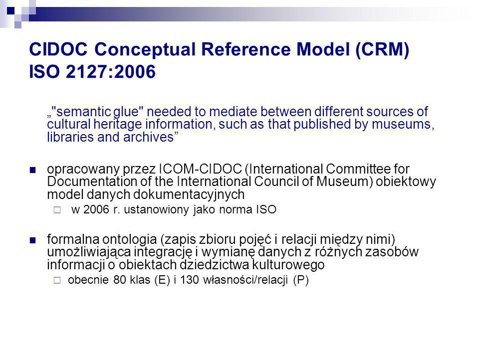 CIDOC Conceptual Reference Model (CRM) ISO 2127:2006