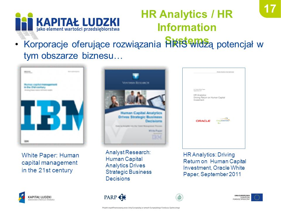 HR Analytics / HR Information Systems