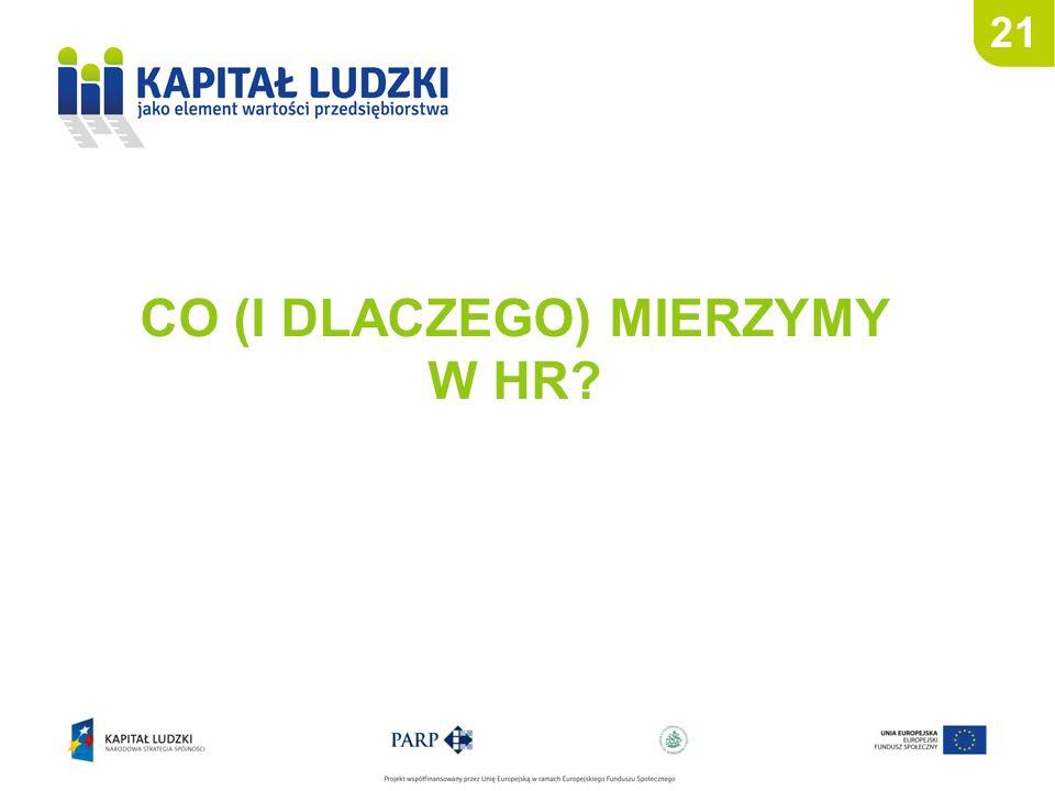 CO (I DLACZEGO) MIERZYMY W HR