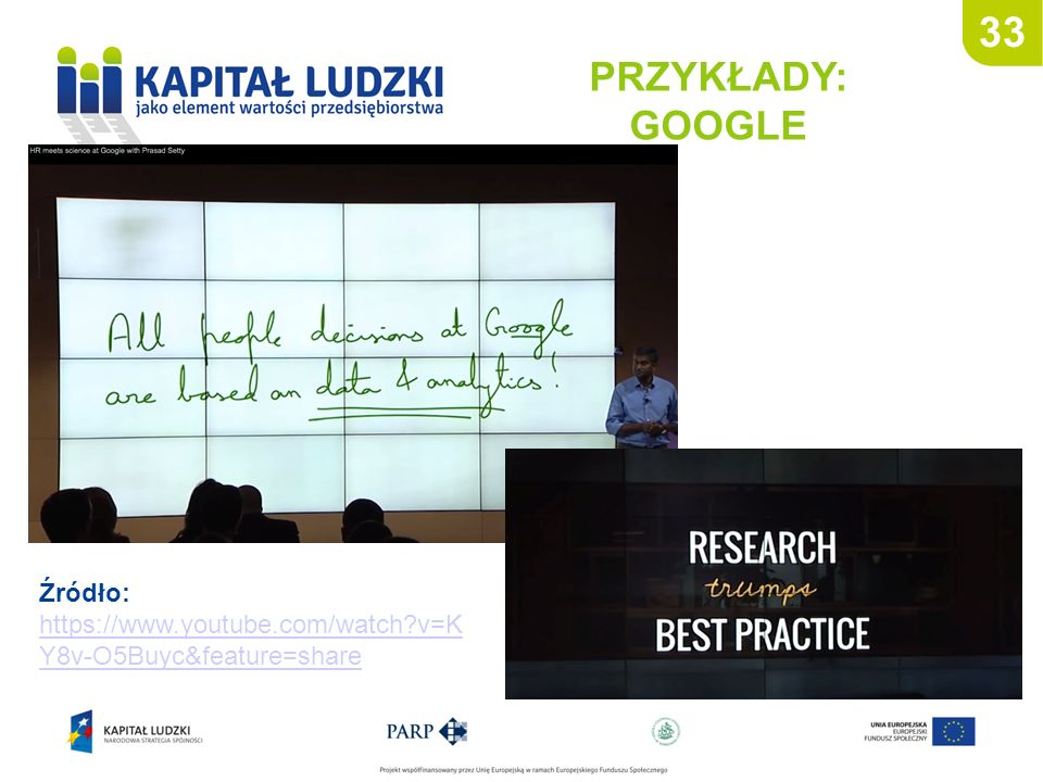 33 PRZYKŁADY: GOOGLE Źródło: https://www.youtube.com/watch v=KY8v-O5Buyc&feature=share 33