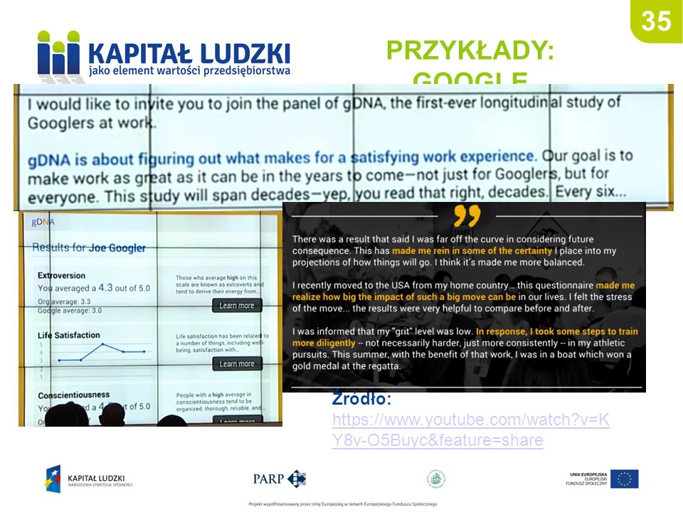 35 PRZYKŁADY: GOOGLE Źródło: https://www.youtube.com/watch v=KY8v-O5Buyc&feature=share 35