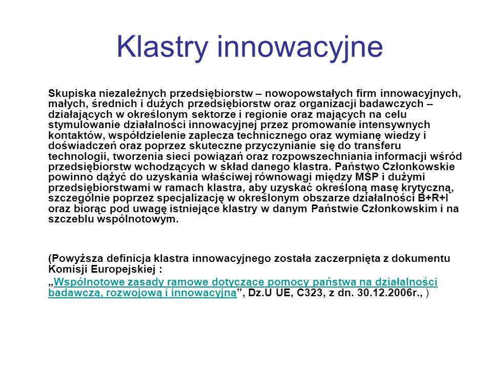 Klastry innowacyjne