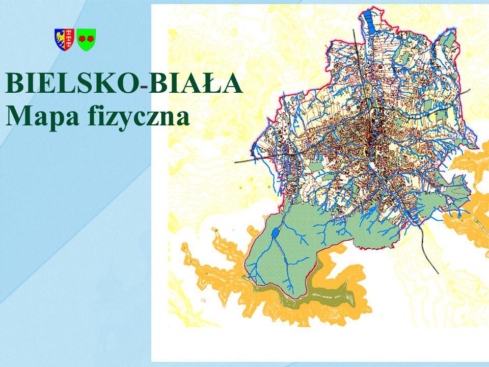 BIELSKO-BIAŁA Mapa fizyczna