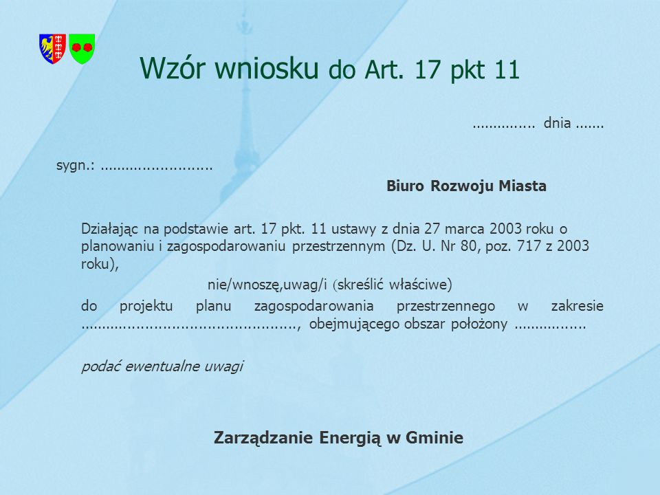 Zarządzanie Energią w Gminie