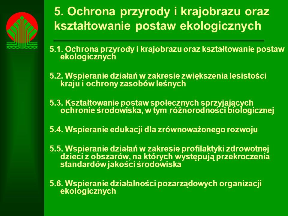 5. Ochrona przyrody i krajobrazu oraz kształtowanie postaw ekologicznych