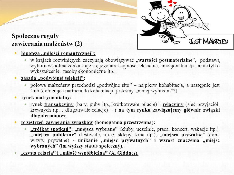 Społeczne reguły zawierania małżeństw (2)