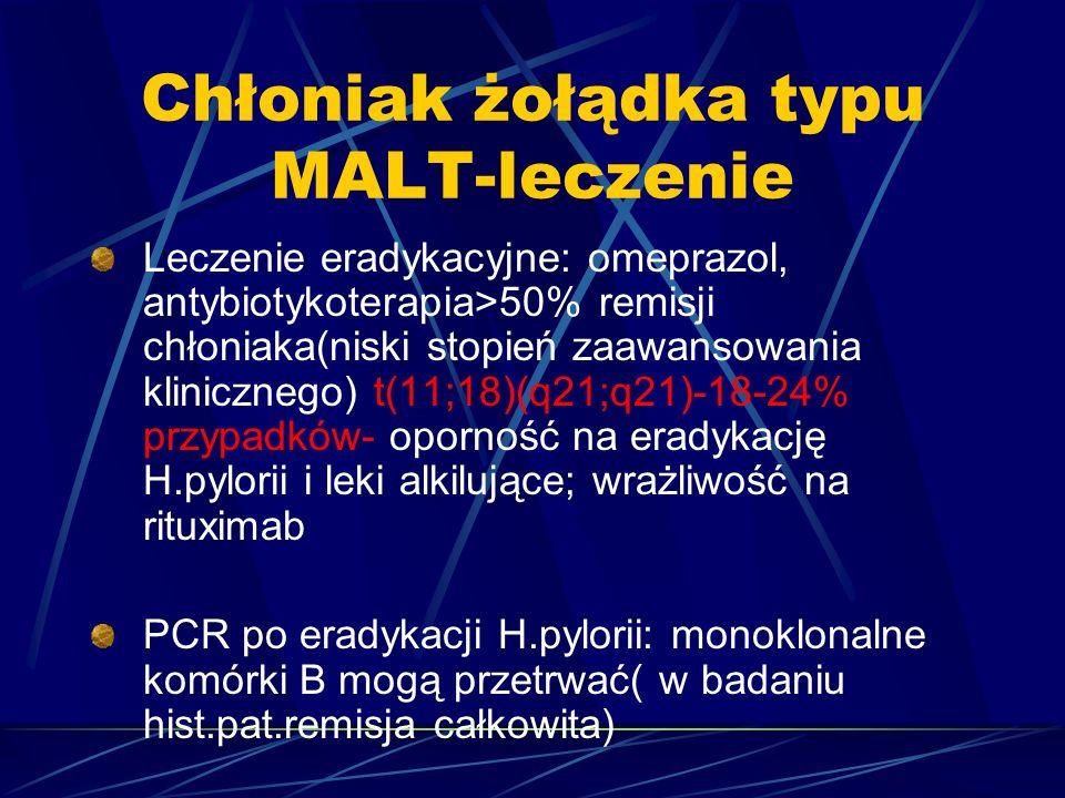 Chłoniak żołądka typu MALT-leczenie