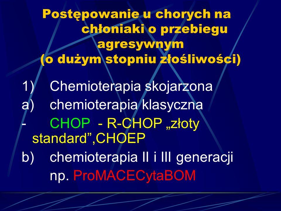 1) Chemioterapia skojarzona a) chemioterapia klasyczna