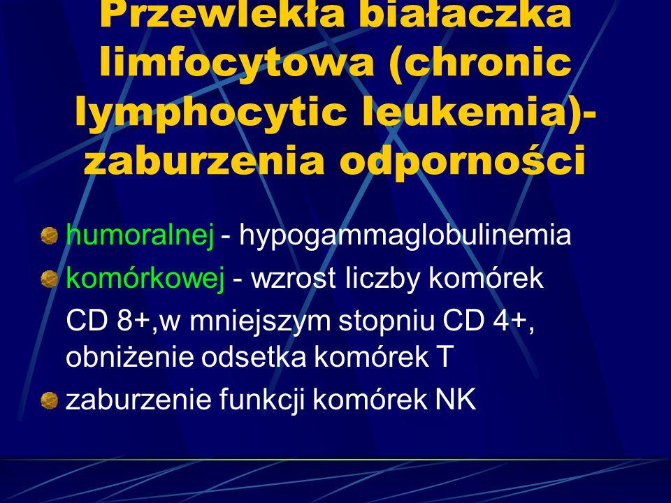 Przewlekła białaczka limfocytowa (chronic lymphocytic leukemia)-zaburzenia odporności