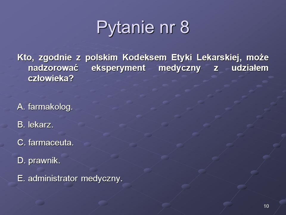 Kariera lekarza Lek. Marcin Żytkiewicz. Pytanie nr 8.