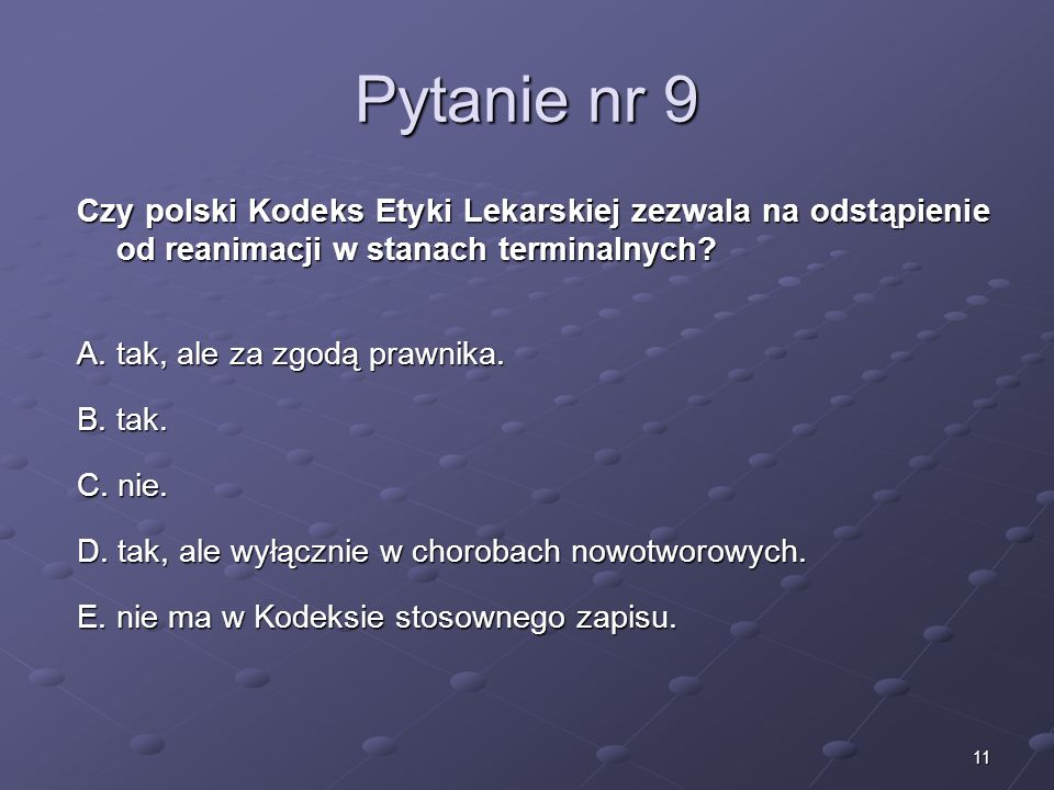 Kariera lekarza Lek. Marcin Żytkiewicz. Pytanie nr 9.