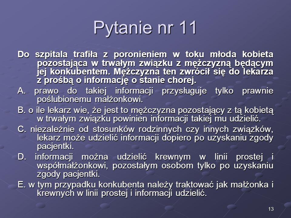 Kariera lekarza Lek. Marcin Żytkiewicz. Pytanie nr 11.