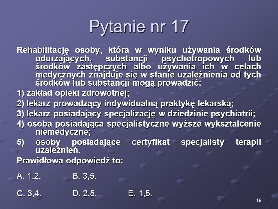 Kariera lekarzaLek. Marcin Żytkiewicz. Pytanie nr 17.