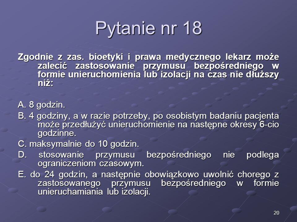 Kariera lekarza Lek. Marcin Żytkiewicz. Pytanie nr 18.