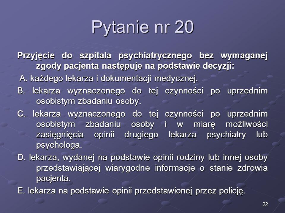 Kariera lekarzaLek. Marcin Żytkiewicz. Pytanie nr 20.