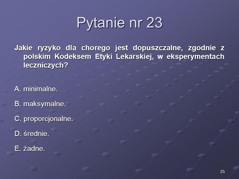 Kariera lekarzaLek. Marcin Żytkiewicz. Pytanie nr 23.