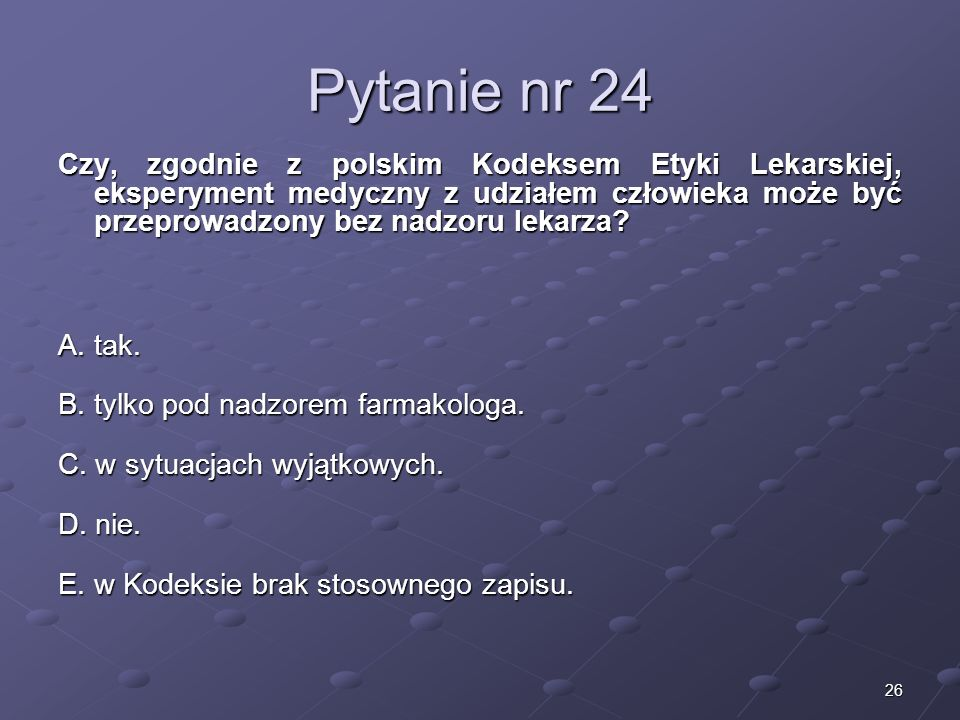 Kariera lekarza Lek. Marcin Żytkiewicz. Pytanie nr 24.