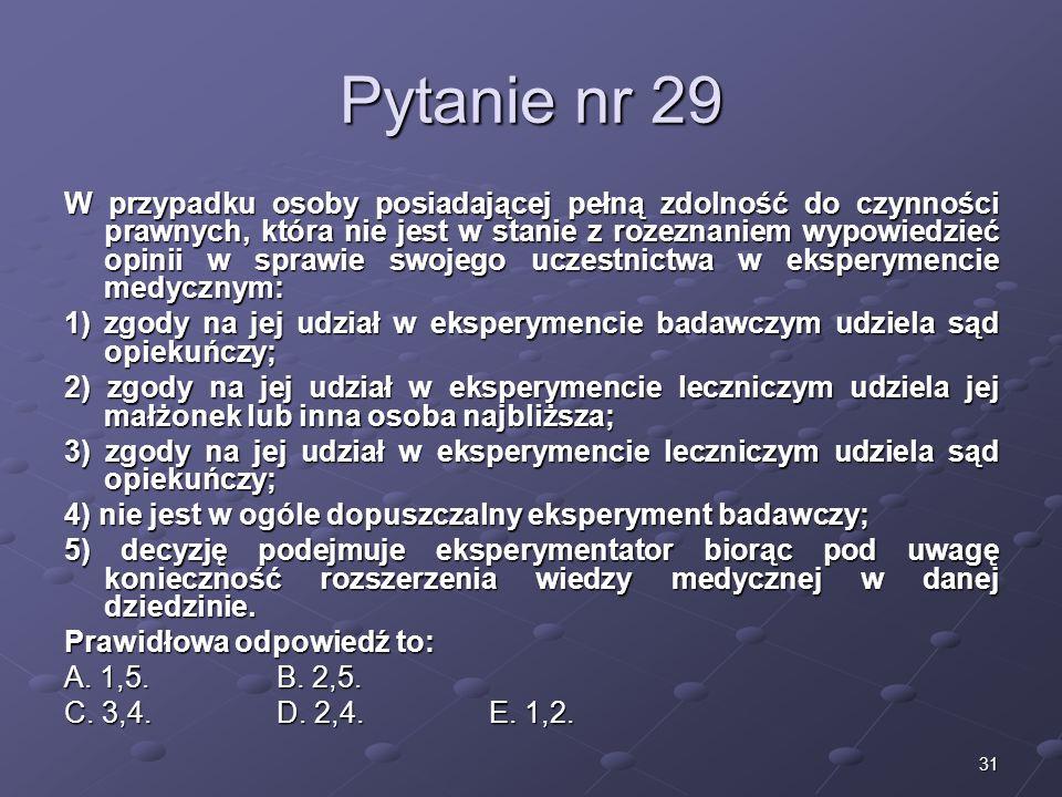 Kariera lekarzaLek. Marcin Żytkiewicz. Pytanie nr 29.