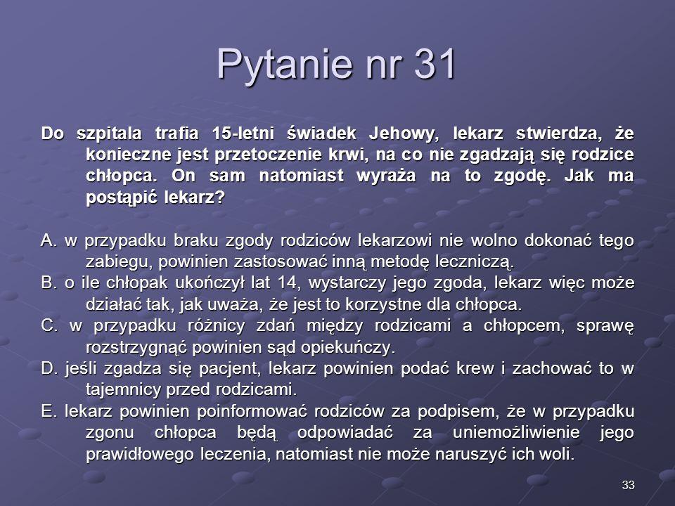 Kariera lekarza Lek. Marcin Żytkiewicz. Pytanie nr 31.