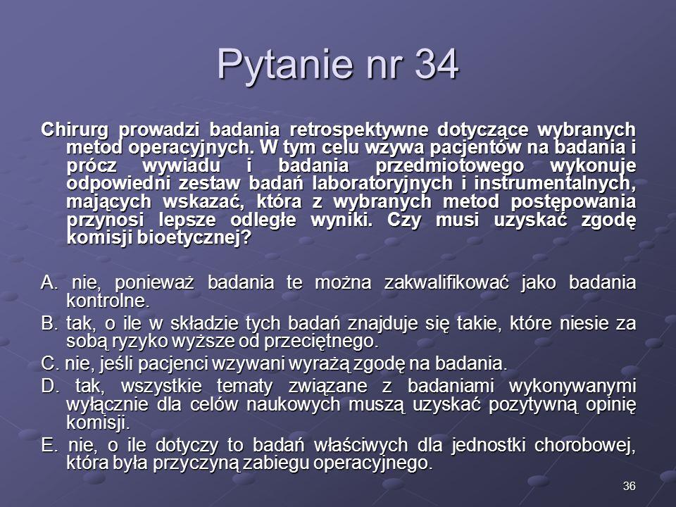 Kariera lekarza Lek. Marcin Żytkiewicz. Pytanie nr 34.