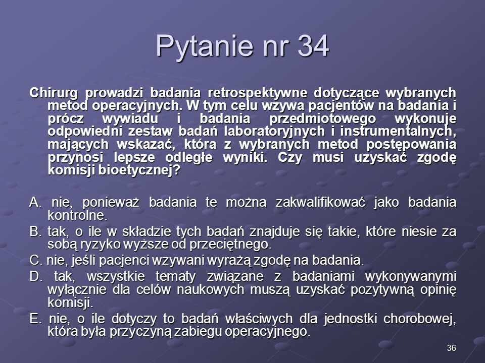 Kariera lekarzaLek. Marcin Żytkiewicz. Pytanie nr 34.