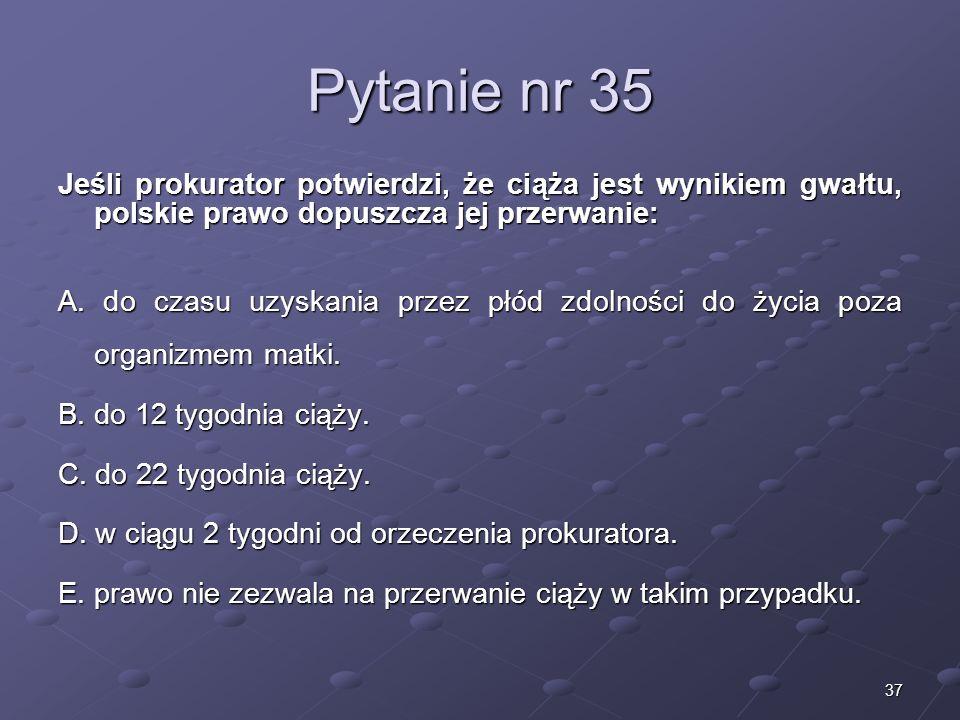 Kariera lekarzaLek. Marcin Żytkiewicz. Pytanie nr 35.