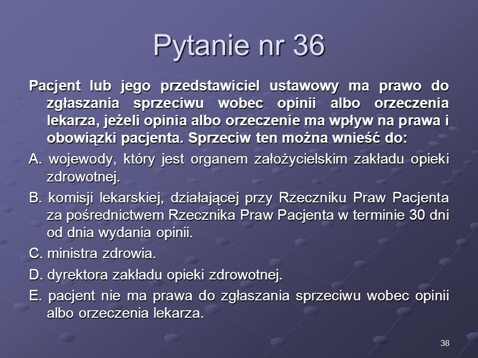 Pytanie nr 36