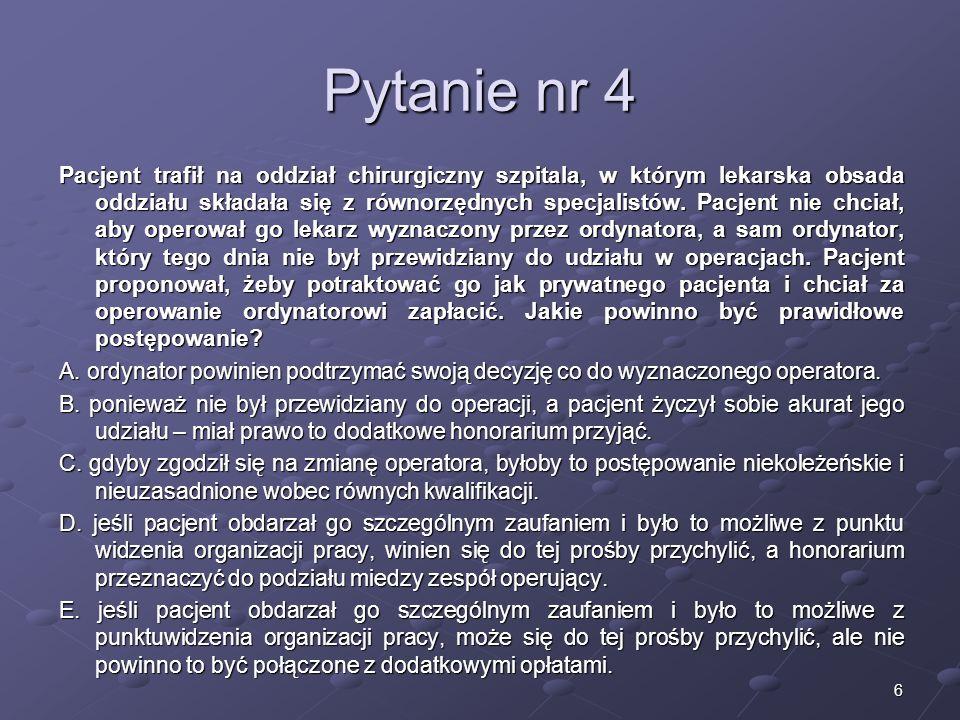 Kariera lekarza Lek. Marcin Żytkiewicz. Pytanie nr 4.