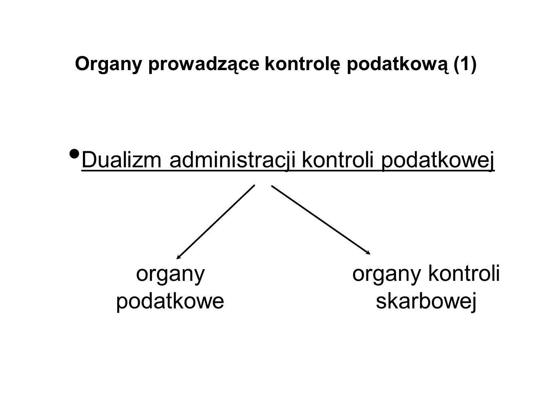 Organy prowadzące kontrolę podatkową (1)