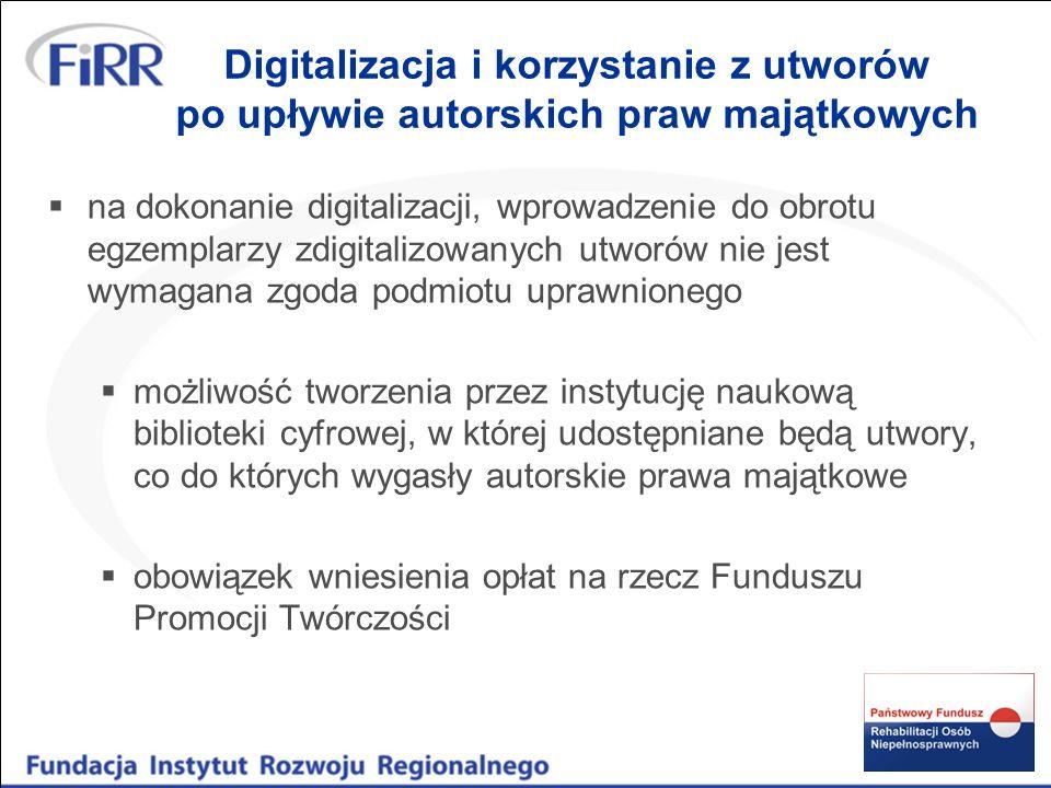 Digitalizacja i korzystanie z utworów po upływie autorskich praw majątkowych