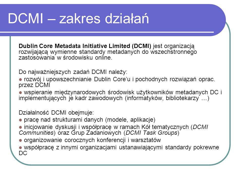 DCMI – zakres działań
