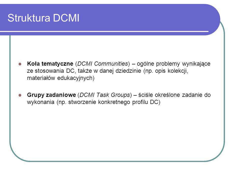 Struktura DCMI